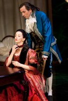 Stacia Rice as the Marquise de Merteuil and John Middleton as Valmont. Photo by Thomas Sandelands