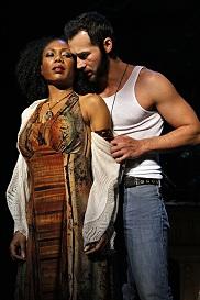 Austene Van (Aida) and Jared Oxborough (Radames). Photo by Michal Daniel.