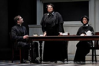 "Matthew Worth, Christine Brewer, and Adriana Zabala in ""Doubt"". Photo by Michal Daniel."
