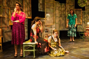 Patria (Adlyn Carreras), Minerva (Claudia de Vasco), Maria Teresa (Thallis Santesteban) and Dede (Maggie Bofill).Photo by Rich Ryan.