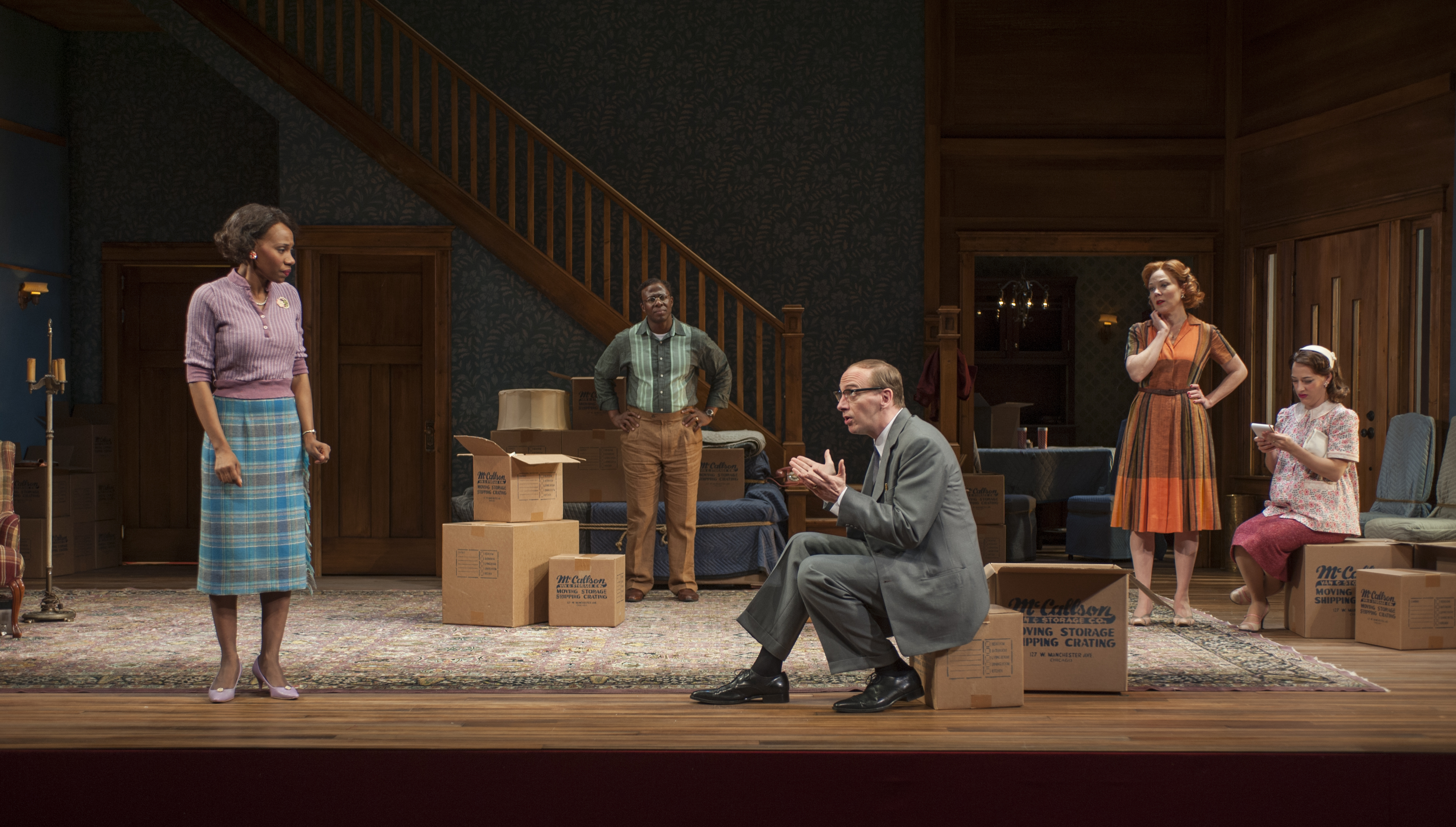 clybourne park Act one takes place in 1959, as nervous community leaders anxiously try to stop the sale of a home to a black family act two is set in the same house fifty years.