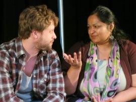 Jay Kistler as Paul, and Ankur Garg as Aditi (Photo by Bill Wesen)