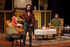 "Hope Cervantes, Virginia Burke, and James Denton in ""Good People."" Photo by Petronella Ytsma."