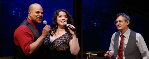 Jennifer Grimm (Chanteuse), T. Mychael Rambo (Crooner) and Ari Hoptman (Ira Gershwin) in Words by Ira Gershwin and the Great American Songbook at Park Square Theater