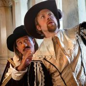 Cyrano at the Park Square Theatre. JC Cutler as Cyrano and Sam Bardwell as Christian. Photo Credit: Petronella Ytsma