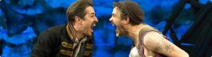 John Sanders as Black Stache and Luke Smith as Smee in Peter and the Starcatcher, Orpheum Theatre