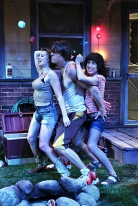 L-R:  Sharon (Anna Sundberg), Kenny (Tyson Forbes) and Mary (Angela Timberman)  PHOTO CREDIT:  Michal Daniel
