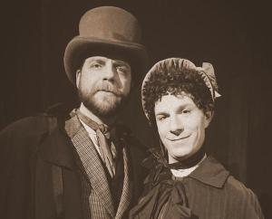 Walter (Nathan Tylutki) and Charles/Charlotte (Neil Schneider). Photo by Ruth Virkus.