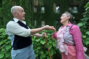 JP Fitzgibbons as Merlin and Naomi Karstad as Morgan Le Fay. Photo by Ty Sassaman.