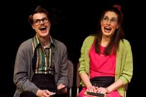 "Ryan Lear and Rachel Petrie in ""The Finkles' Theater Show!!!"" photo from www.fringefestival.org"