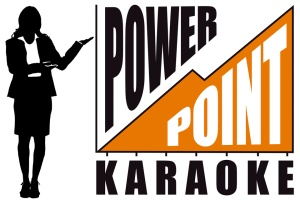 """Power Point Karaoke"" by Snikt! Bamf! Thwip! image from www.fringefestival.org"