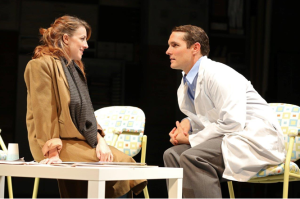 Kate Wetherhead (Heidi Holland) and Zach Shaffer (Peter Patrone). Production photos by Joan Marcus, Guthrie Theater