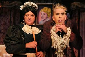 Stephen Cartmell and Bradley Greenwald in The Mystery of Irma Vep. PHOTO CREDIT:  Michal Daniel