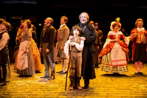 Members of the cast of the Guthrie Theater's production of the Charles Dickens classic A Christmas Carol, adapted by Crispin Whittell and directed by Joe Chvala. Photo by Dan Norman.