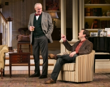 Peter Thomson (Bradley) and Rod Brogan (John) in the Guthrie Theater's production of The Cocktail Hour, by A.R. Gurney. Photo by Heidi Bohnenkamp.