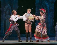Brandon O'Neill, Hunter Ryan Herdlicka, and Kersten Rodau in The Pirates of Penzance (Photo by Molly Shields)