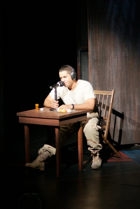 Ricardo Vazquez in Elliot, A Soldier's Fugue. Photo by Petronella J. Ytsma