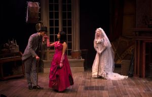 Ryan Colbert, Hope Cervantes and Barbra Berlovitz in Great Expectations. Photo by Petronella J. Ytsma.