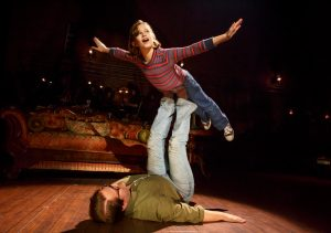 Alessandra Baldacchino as 'Small Alison' and Robert Petkoff as 'Bruce' in Fun Home. Photo by Joan Marcus